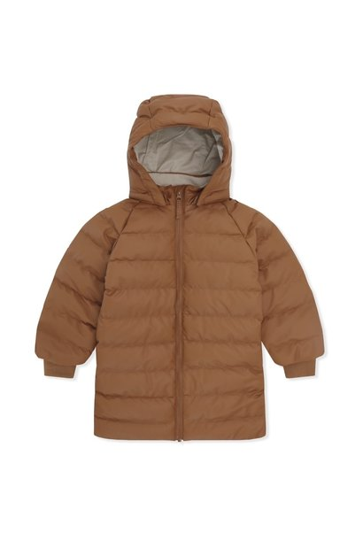 Konges Slojd jacket ace long rain down leather brown