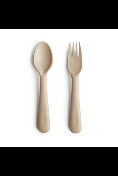Mushie fork and spoon vanilla