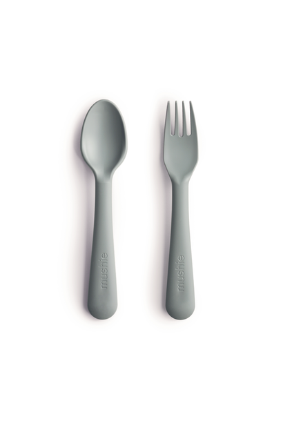 Mushie fork and spoon sage