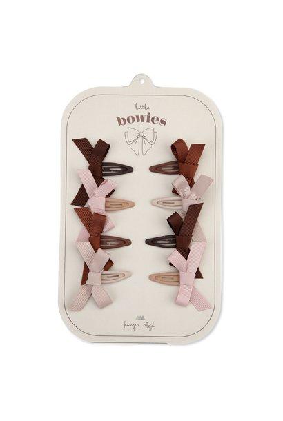 Konges Slojd hair clips bow blush 8-pack