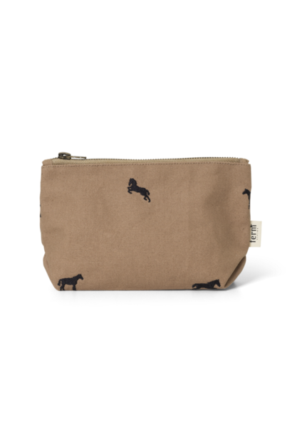 ferm LIVING horse embroidery bag small tan