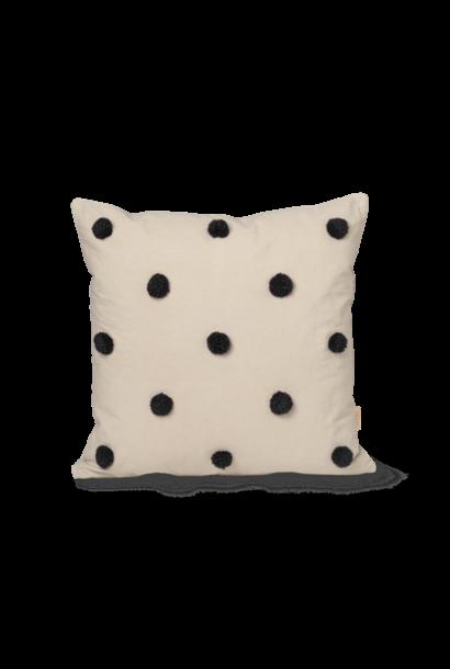 ferm LIVING dot tufted cushion sand black 50x50