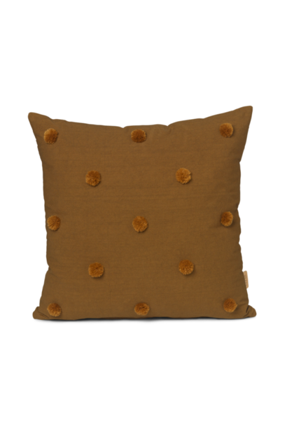 ferm LIVING dot tufted cushion sugar mustard 50x50
