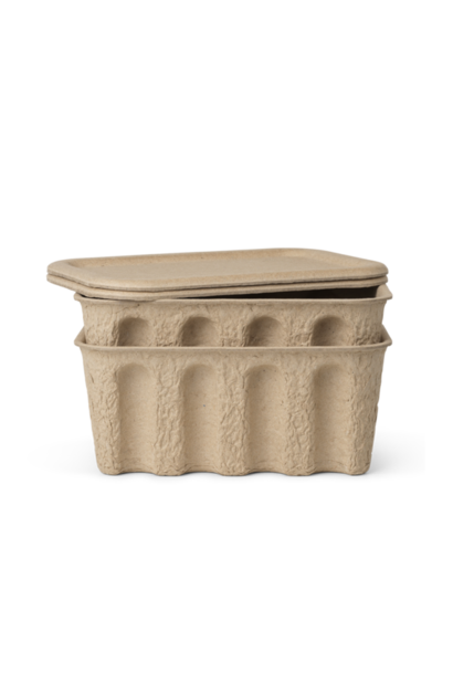 ferm LIVING paper pulp box set of 2 small brown