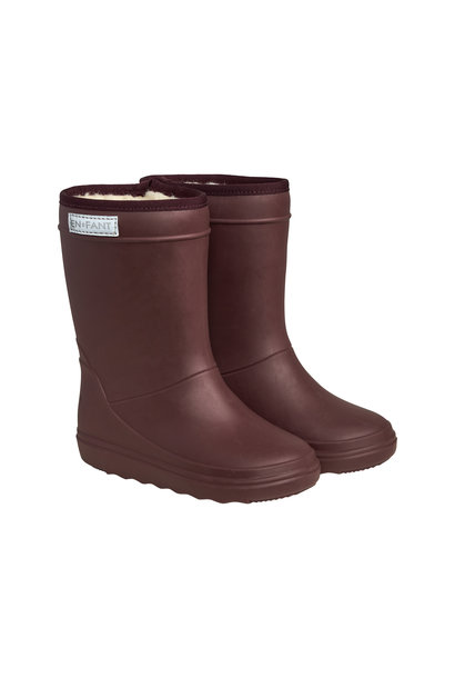 Enfant thermoboots solid vineyard wine