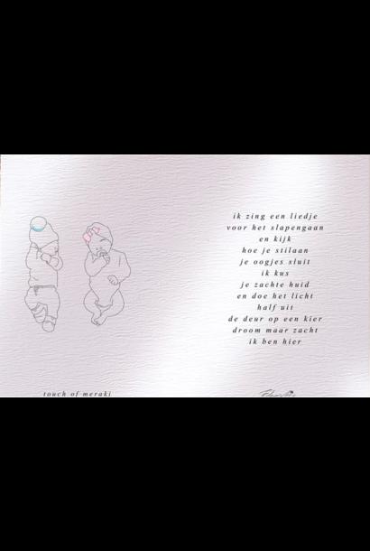 Touch of Floortje geboortekaartje meisje en jongen