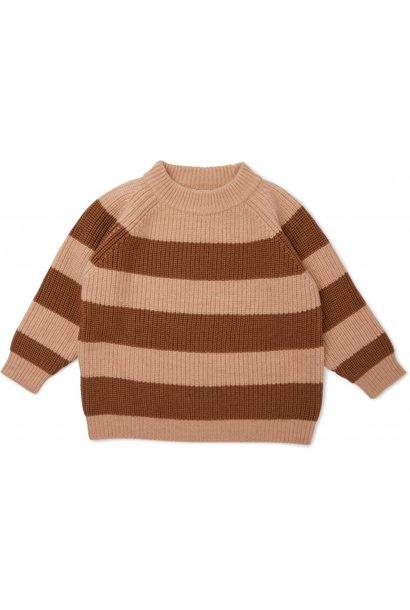 Konges Slojd knitted sweater vitum moon/ almond stripe