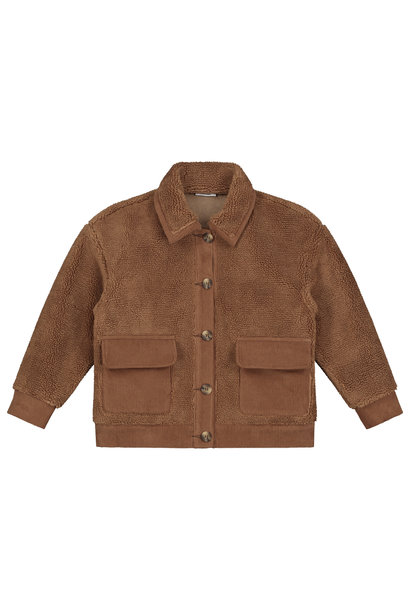 Daily Brat teddy jacket royal forest brown