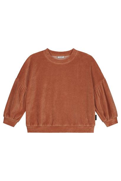 Daily Brat sweater marant velours caramel swirl