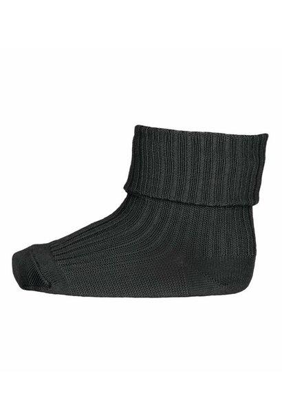 MP Denmark rib socks wool dusty ivy