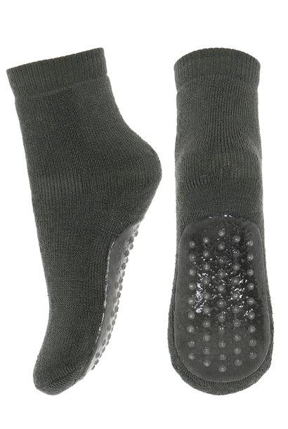 MP Denmark anti-slip socks wool dusty ivy