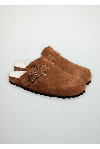 The New Society clogs dallas leather toffee