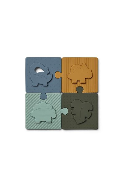 Liewood puzzle bodil dino blue multi mix