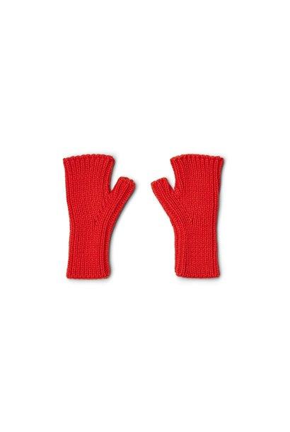Liewood fingerless mittens finn apple red