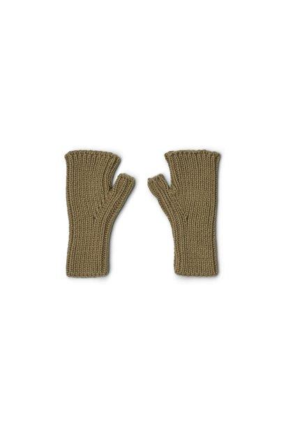 Liewood fingerless mittens finn khaki