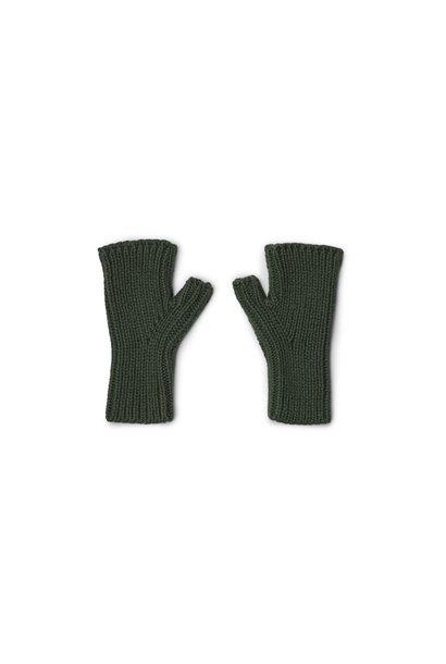Liewood fingerless mittens finn hunter green