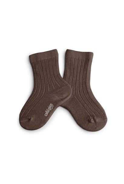 Collegien glitter sokken chocolat au lait