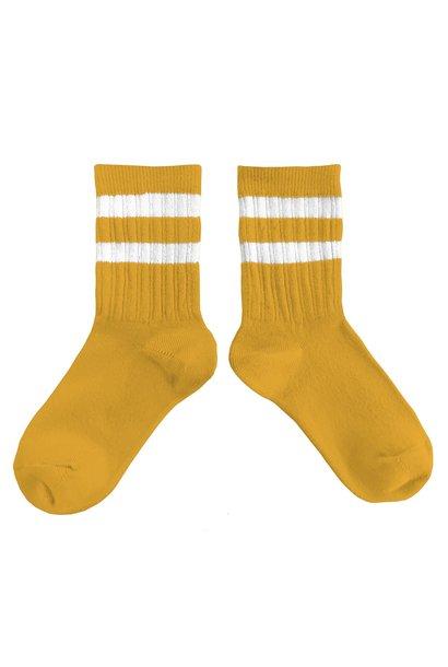 Collegien sokken nico curcuma yellow