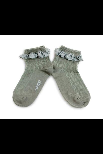 Collegien sokken marie-antoinette aigue marine