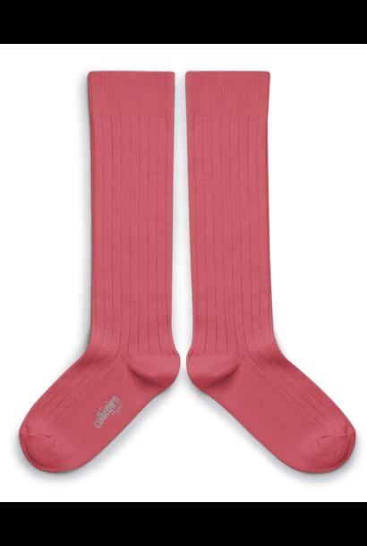 Collegien knee socks la haute rose litchi