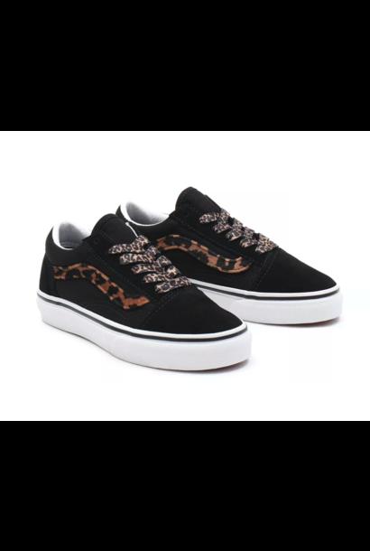 Vans junior old skool leopard fur black/ white