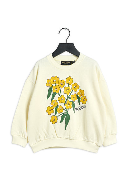 Mini Rodini sweater alpine flowers white