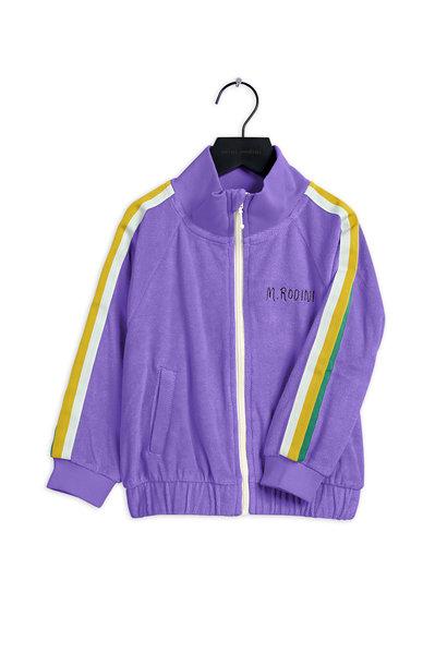 Mini Rodini jacket terry purple