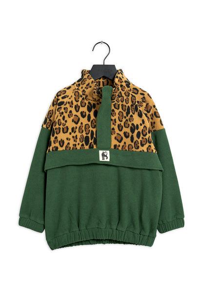 Mini Rodini fleece pullover green
