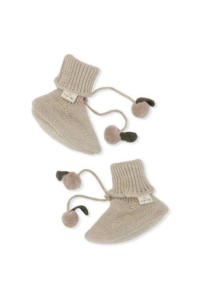 Konges Slojd knitted boots miro white cream melange