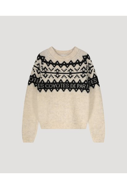 Les Coyotes de paris knitted sweater pippy offwhite melange