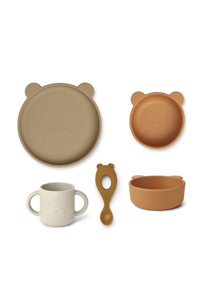 Liewood siliconen set vivi mr bear oat mix