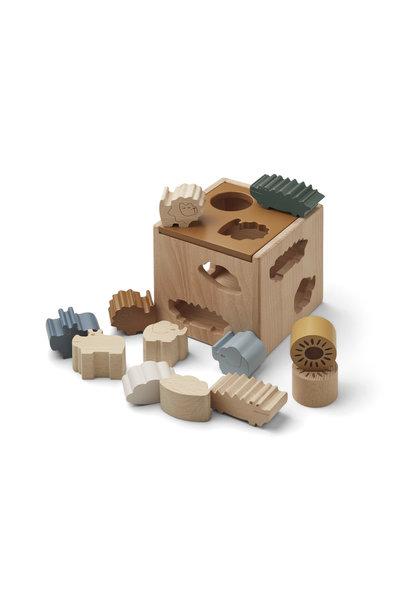 Liewood puzzle cube gary safari/ golden caramel mix