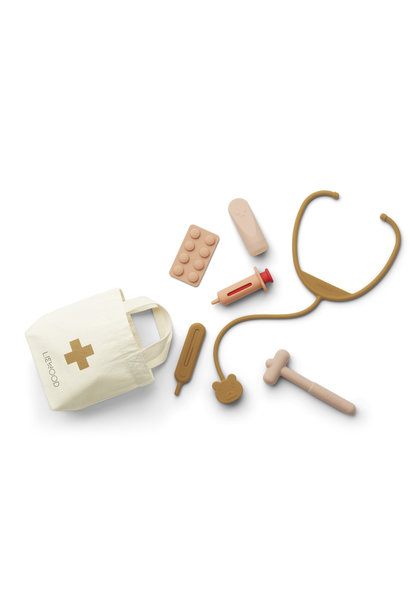 Liewood silicone doctor set lennart rose mix