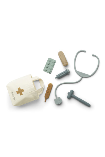 Liewood silicone doctor set lennart blue mix