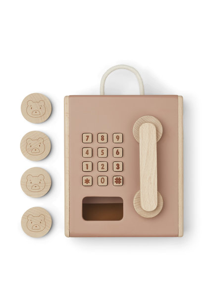 Liewood wooden payphone rufus tuscany rose mix