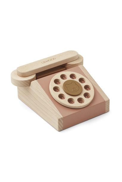 Liewood wooden phone selma tuscany rose mix