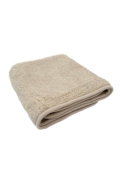 Alwero thumbled deken wol beige