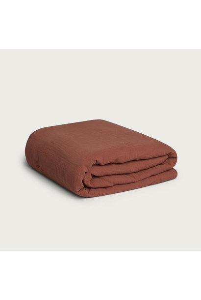 Garbo & Friends muslin filled blanket cinnamon