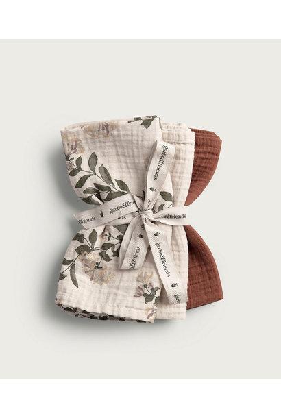 Garbo & Friends burp cloth honeysuckle 3-pack