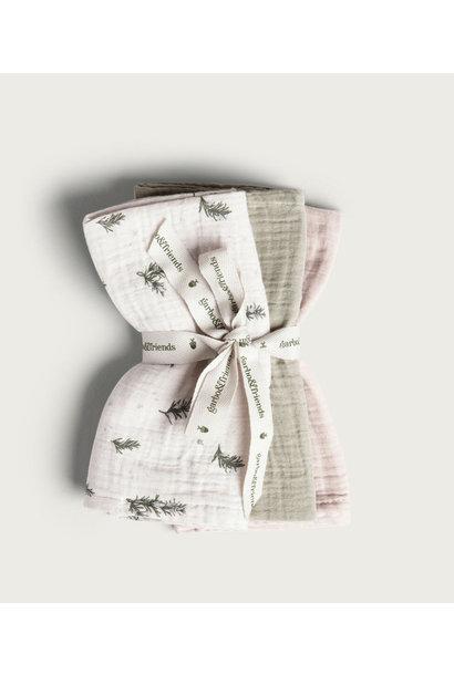 Garbo & Friends burp cloth rosemary