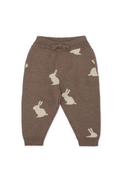 Konges Slojd pants lapis jacquard bunny brown