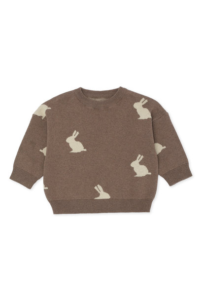 Konges Slojd sweater lapis jacquard bunny brown
