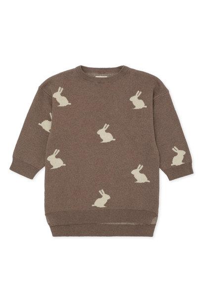 Konges Slojd dress lapis jacquard bunny brown