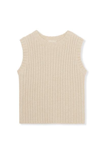 Konges Slojd knitted vest penny creamy white