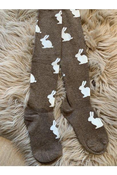 Konges Slojd stockings jacquard bunny