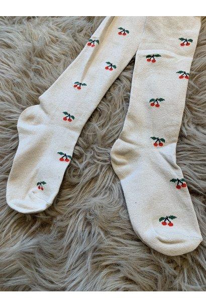 Konges Slojd stockings jacquard cherry