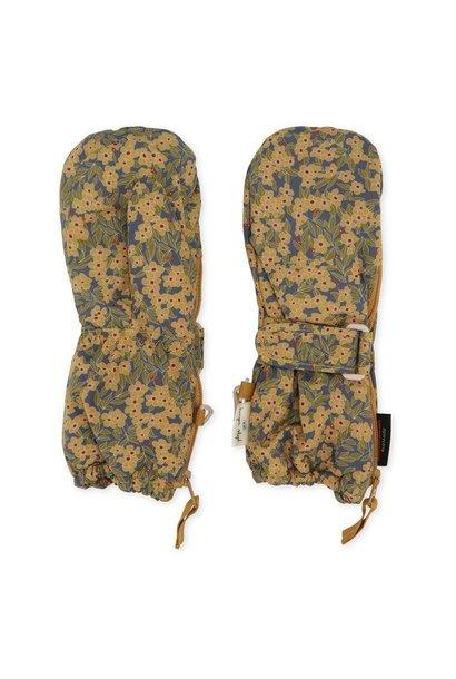 Konges Slojd mittens nohr winter leaves mustard