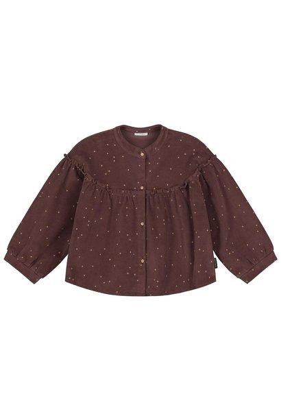 Daily Brat corduroy blouse tara glitter dots brown