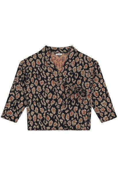 Daily Brat kimono lucky leopard jacquard