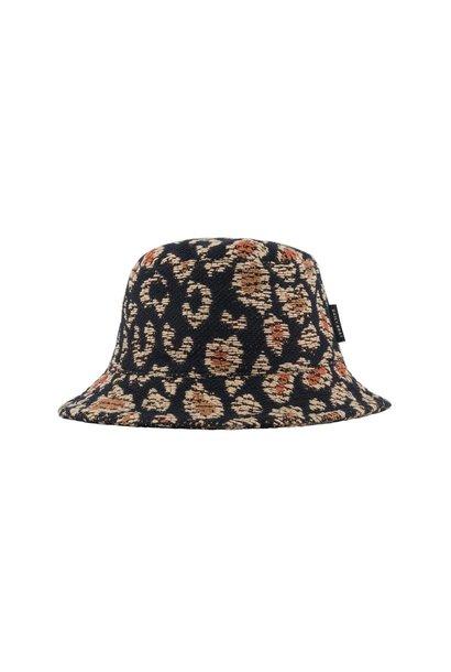 Daily Brat bucket hat lucky leopard jacquard